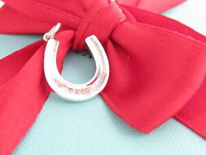 New Tiffany & Co Silver 1837 Horse Shoe Horseshoe Charm Pendant