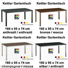 NEU Kettler Gartentisch in 5 Farben 160 x 95 cm aus Aluminium und Kettalux Tisch