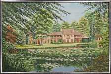 "Joel Roman ""Le Hameau"" Original Oil Painting on Canvas, France, MAKE AN OFFER!"