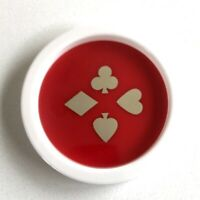 Vintage Plastic Playing Cards Suit Coasters 8 Count