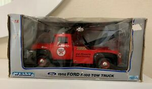 Welly 1956 Ford F100 Tow Truck, Die Cast Metal Scale 1:18