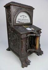 1890 Barrett Cast Iron Grip Test Penny Arcade Strength Machine Rare Great Beauty