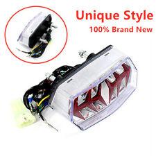 12V Red+Amber Clear Brake Integrated Tail LED Lights Turn Signal Light Lamp