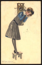 cartolina d'epoca-post card-illustratore  MAUZAN-DONNINE,WOMAN,LADY DECO' 1