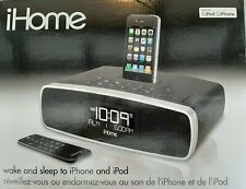 ihome iP90 Dual Alarm Clock Radio AM/FM Dock for iPod and iPhone