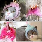 New Lace Cap Holiday gifts for Pet Cat Dog Festive Dress Up Christmas Party Hat