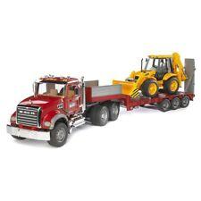 Bruder MACK Granite Truck with Low loader and JCB 4CX Backhoe Loader NEW
