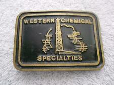 WESTERN CHEMICAL SPECIALTIES SOLID BRONZE BELT BUCKLE OILFIELD SERVICE COMPANY