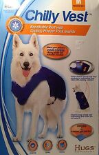 HUGS Chilly Vest for Medium Dogs, NIP Includes 4 freezer gel packs
