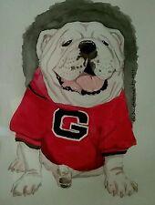 Limited Edition Print, Georgia Bulldog, by Herbie Hasbrouck Jr