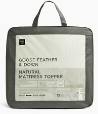 M&S GOOSE FEATHER & DOWN NATURAL MATRESS TOPPER KINGSIZE - BNWT