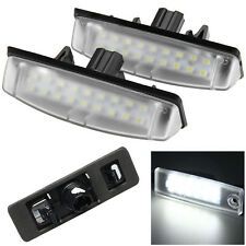 2Pcs 18 LED 12V 6000K White License Plate Light Lamp Error Free for Lexus/Toyota