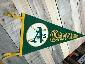 Oakland Athletics 1970s era Team Logo MLB baseball Pennant  nice  cool green