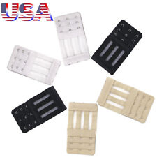 USA Set of 6 Bra Extender 3 Hooks Elastic 6 Extenders  3 Rows Extension Buckle