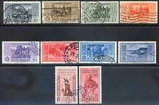 Regno d'Italia 1932 Garibaldi S63 n. 315/324 usati (l142)