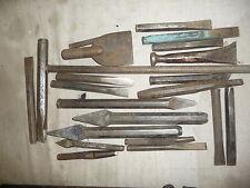 Stonemason chisel set 22 pieces 9cm to longest 36cm all ready to use