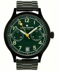 LUCKY BRAND Jefferson black stainless steel bracelet 38mm Men's watch