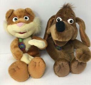 Fisher Price Puzzle Place Sizzle the Cat and Snuggle the Dog Plush Vintage 1994