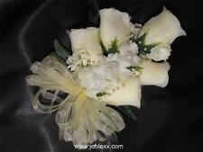 IVORY SILK ROSES WRIST CORSAGE for the BIG day