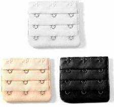 3x 3 Hook Bra Extenders Strap Extensions Black White Beige Maternity Comfortable