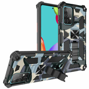 Camouflage Shockproof Military Armor Phone Case For Samsung S21 S20 FE A12 A51