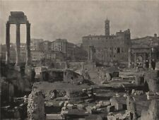 ROME. General view of the Forum. Rome 1895 old antique vintage print picture