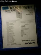 Sony Service Manual MZ N520 /N520CK Mini Disc Recorder (#5233)