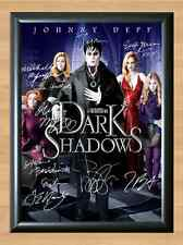 Dark Shadows Johnny Depp Cast Signed Autographed A4 Poster Print Photo Movie dvd