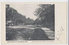 Old SPRINGFIELD Missouri MO Postcard East WALNUT Street Homes Trees