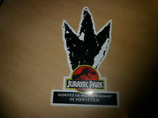 STEVEN SPIELBERG - JURASSIC PARK!! BIG FRENCH PROMO STICKER!!!!!!!!!