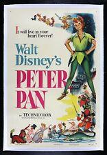 PETER PAN ✯ CineMasterpieces 1953 DISNEY VINTAGE ORIGINAL MOVIE POSTER