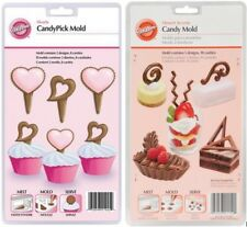 Wilton Dessert Accent Molds Lot 2- Hearts and Assorted Shapes Candy Chocolate