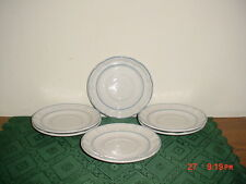 "6-PC ""FLORAL EXPRESSIONS"" 6"" SAUCERS/REPLACEMENTS/JAPAN/WHITE-BLUE/CLEARANCE!"