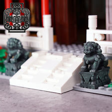 LEYILE BRICK - Custom Stone Lion x 2 (1 Male, 1 Female) Minifigure
