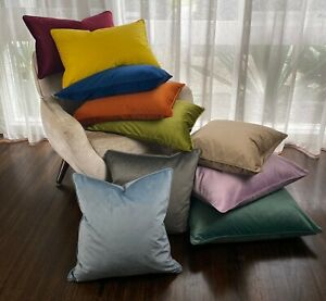 Relax Velvet Cushion Cover 40x60cm 10 Colours (Cover Only) Blue Red Grey Beige🌷