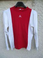 Maillot STADE de REIMS porté n°8 vintage années 60 70 shirt coton trikot L/S 0x1