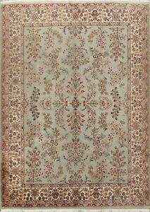 VINTAGE Floral Oriental Sparta Turkish Area Rug Hand-knotted Wool Carpet 8x10 ft