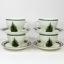 Christopher Radko Holiday Celebrations 8oz Cup & Saucer Set 8Pc Colombia Green