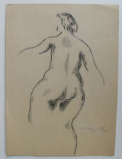 Sigfred Pedersen ( Danish. 1903 ) Female nude with back turned.  Dated 1939.