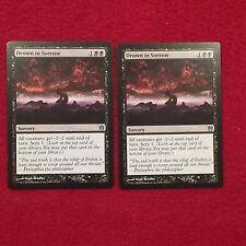 MTG X2 Drown in Sorrow Born of the Gods Magic the Gathering Black Sorcery Cards