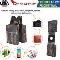 Universal ATV Fuel Motorcycle Tank Padded Cargo Storage Saddle Bags Saddlebags