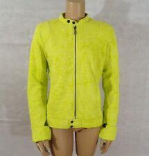 Women Large Fox Racing Motocross Motorcycle Biker Sweatshirt Jacket Yellow Green