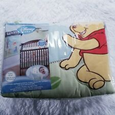 Disney Baby Winnie the Pooh Playful Day 4 Piece Crib Set Comforter Sheet Bumper