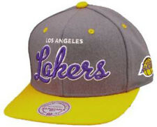 MITCHELL And NESS-Los Angeles Lakers greyyellow Snapback Sent Sameday *
