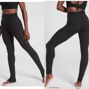 Athleta High Rise Aura Heel Tight in Powervita Black Size XXS