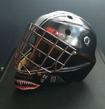 New ListingCustom Painted Eddy Ice Hockey Roller Mask Goalie Pro Tusk Jr Xl Canada Rare