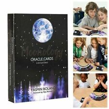 44pcs Tarot Cards Moonology Oracle Cards Deck Party Game Guidebook English