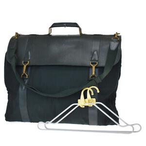 Auth LOUIS VUITTON Portable Gibeciere 2Way Garment Hand Bag Taiga M30694 37MH796