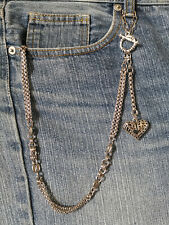 Pocket Watch/Key Chain and Heart Fob for Jeans/Trousers