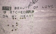 Cabi 758 Medium M The Beauty Of Love Is Etched On My Heart Tee Top